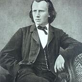 Brahms at the time he wrote the German Requiem. Look, no beard!